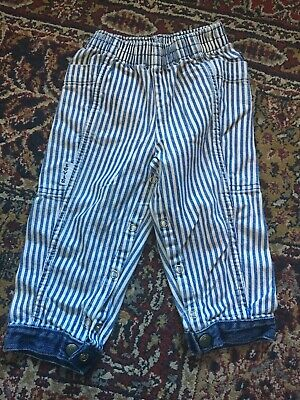 Vintage 90s Little Levis Toddler 18 months Striped Blue Pants Made in USA
