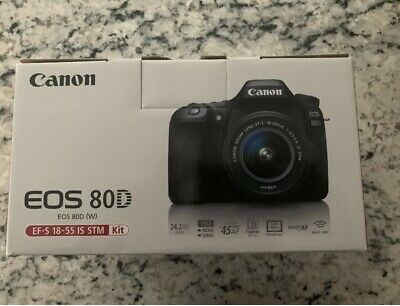 Canon EOS 80D 24.2MP Digital SLR with EF-S 18-55mm Lens