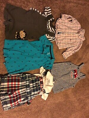 Lot Of Boys 12 Month Late Summer Fall Clothes  Gap Oshkosh Good Lad Carters