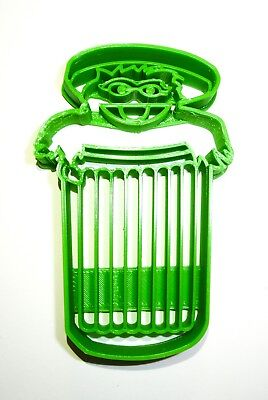 Oscar The Grouch Sesame Street Muppet Lives In Trash Can Cookie Cutter Pr2013