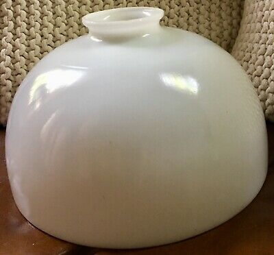 """Vintage Milk Glass 10"""" Diffuser Lamp Shade Torchiere Floor/Table Excellent"""