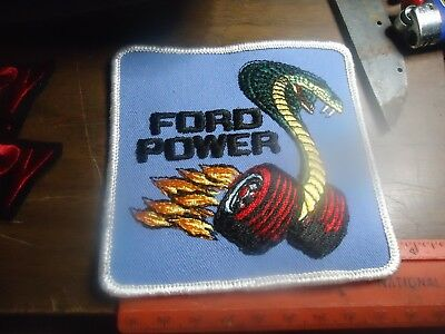 Ford Power/Cobra>>> Cap or Jacket patch  White/Black/Red