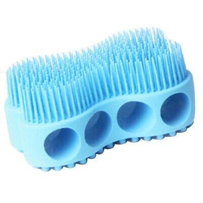 Blue Soft Silicone Body Brush Massage Scrub Bath Brush For Baby Shower Wash