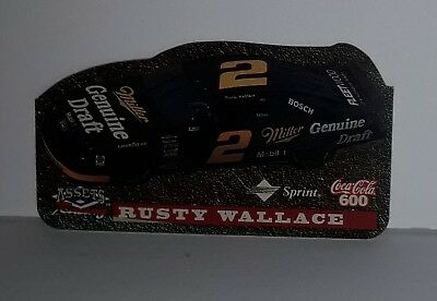 Rusty Wallace Coca-Cola Interact. Die-Cut Racing (Coke 600) SPECIMEN Phone Card.