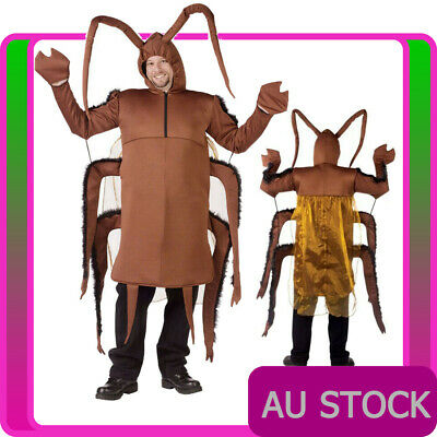 Mens Cockroach Costume Funny Footy Stag Do Party HALLOWEEN Animal Bug Novelty