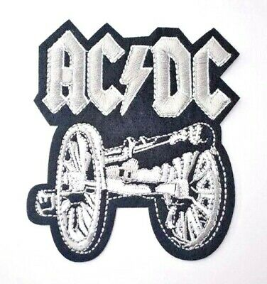 AC/DC Iron on Sew on Embroidered Patch Badge Rock Music Rock Band cannon FTATR