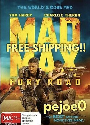 Mad Max Fury Road DVD Tom Hardy Reg 4 FREE POST! (2015) New! Sealed!