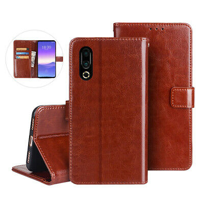 Luxury Magnetic Leather Flip Wallet Case Cover For Meizu 16 15 M15 M6 M5 Note 9