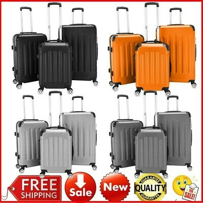 3Luggage Suitcase Set Travel  Bag Durable ABS Lightweight Huge Capacity Trolley