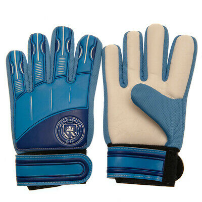 Manchester City Fc Youth Boys Goalkeeper Goal Keeper Gloves Goaly New Xmas Gift