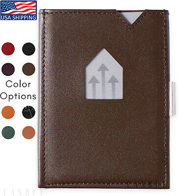 Genuine Leather Wallet For Men Compact Tri Fold | 6 Card Slots Leather Wallet