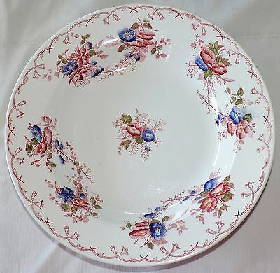 Assiette Creuse Faience Polychrome De Sarreguemines Service Bertha 14 Disponible