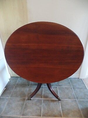 Early Victorian Oval Oak Topped Tilting Table (Le65)
