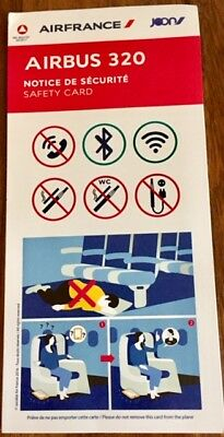 Air France - Joon - Airbus A 320- Safety Card - Consignes 09/2017