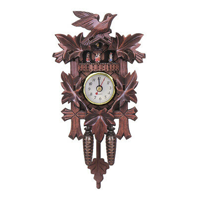 Vintage Cuckoo Clock Forest Quartz Swing Wall Alarm Handmade Room Decorations