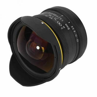 KamLan 8MM F3.0 APS-C Manual Wide Angle Fisheye Lens For Sony E Mount Camera
