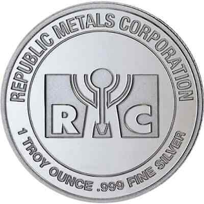 RMC 1oz .999 Silver Bullion Round - Republic Metals Corporation