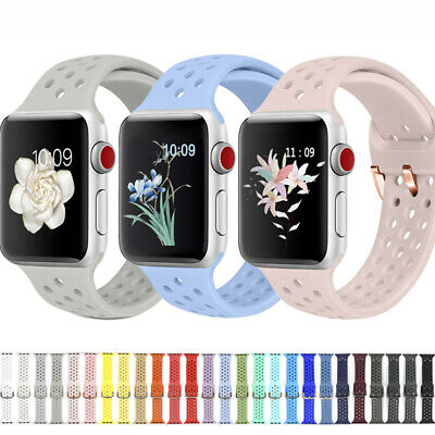 Remplacement Bracelet Silicone Bande pour Apple Watch 38/40/42mm Serie 4 3 2 1