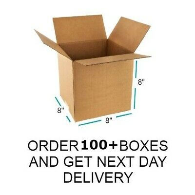 """HIGH QUALITY SINGLE WALL 8"""" x 8"""" x 8"""" POSTAL MAILING CARDBOARD BOXES PACKING"""