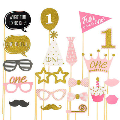 20 X1ST Baby Show First Birthday Party Photo Booth Props Decoration