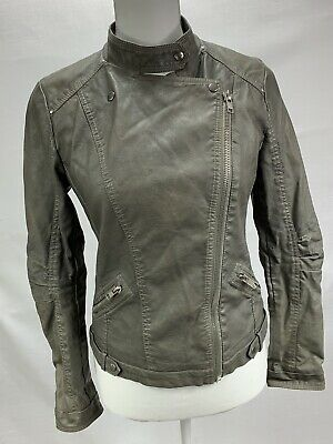 52445a0db FOREVER 21 ARMY Green Bomber Jacket M guc - $15.00 | PicClick
