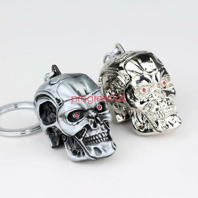 The Terminator Motorcycle Bicycle Skull Key Chain Ring Skeleton Keychain Pendant