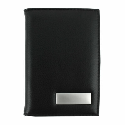 Unisex Outdoor Work Business Certificate Name Credit Card Case Organizer Black