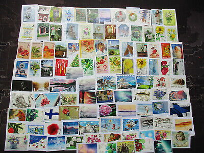 Finland - kiloware on paper 2008-2018,LOT-100 different  ALL LARGE