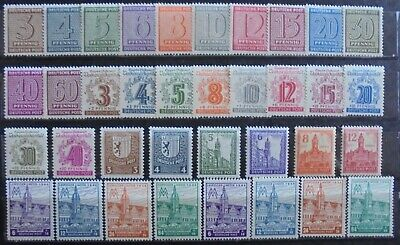 GERMANY 1945-46 Soviet Zone, Collection of 36 MNH