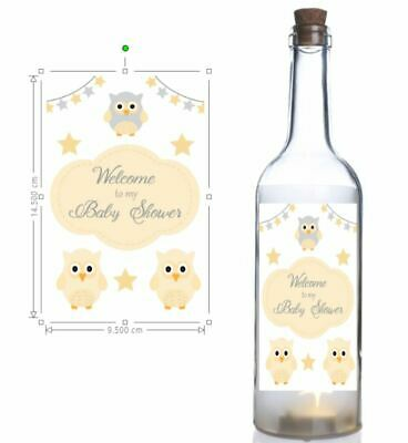Wine bottle sticker, Welcome to my Baby Shower, Bottle Sticker, Easy Peel print