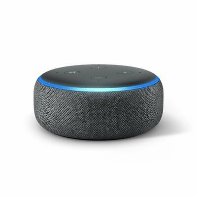 New Amazon Echo Dot 3rd Generation Smart Speaker with Alexa Charcoal UK Stock