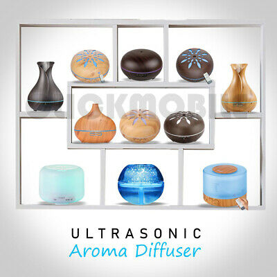 Ultrasonic LED Essential Oil Aroma Aromatherapy Diffuser Air Purifier Humidifier