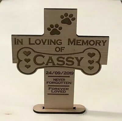 Personalised Engraved Pet Memorial Plaque- In Loving Memory Pet Photo Dog