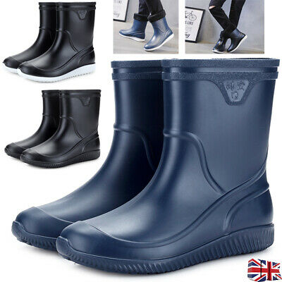 Mens Waterproof Outdoor Short Wellington Wellies Boot Rain Garden Festival Shoes