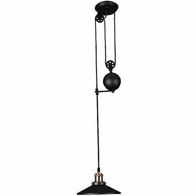 American Country Style Pulley Droplight Antique Retro Iron Pendant Ceiling Wire
