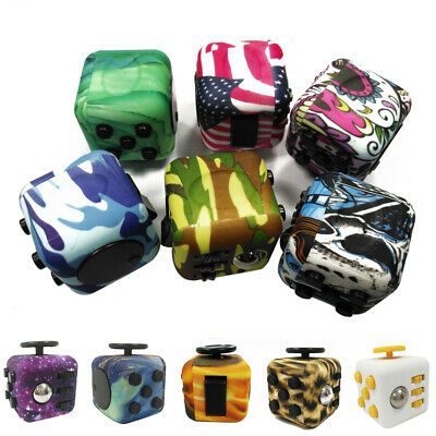 Fidget Cube Desk Toys Girls Boys Adults Anti Anxiety Relief ADHD Stress Reliever