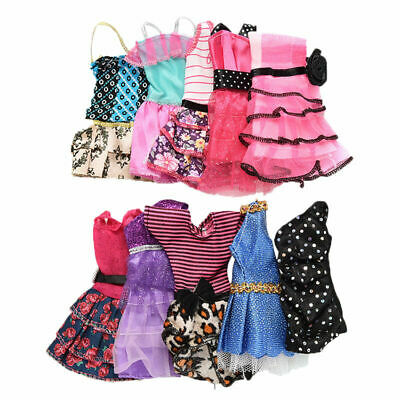 10 Pcs Fashion Handmade Dresses Clothes For Doll Style Toys Color Random W1X7