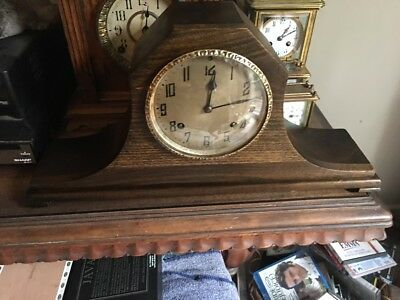 New Haven Tambour No. 56 Pendulum Wind-Up  Mantle Clock Will Include A Key