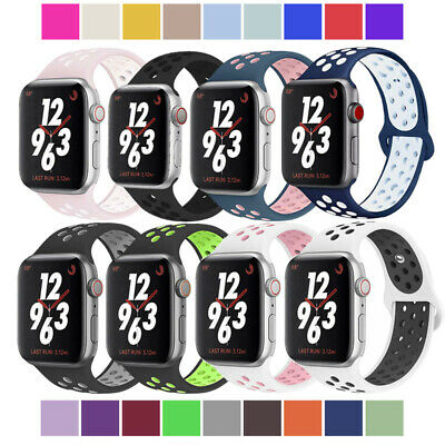 Silicone Sport iWatch 38/42mm Band Strap for Apple Watch Series 4/3/2 New Design