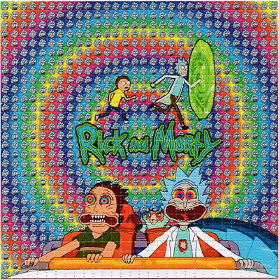 R & M Fear & Loathing BLOTTER ART perforated sheet paper psychedelic art