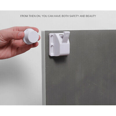 Childproof Kids Safety Cabinet Lock Door Magnetic Protection Invisible Security