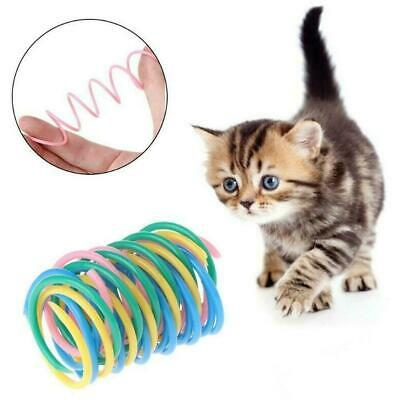 Cat Toys Colorful Spring Bounce Plastic Pet Kitten Color Random P9P1