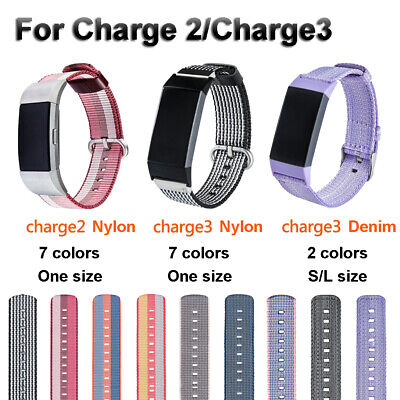 Band Watch Strap Nylon Bracelet Wristband Replacement For Fitbit Charge 3 2