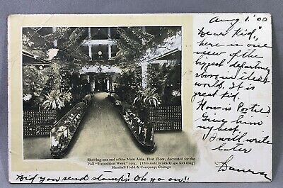 1904 MARSHALL FIELD &Co DEPARTMENT STORE Chicago Postcard ANTIQUE Undivided Back