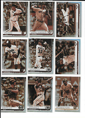 2019 Topps Chrome Sepia Refractor (1-200) YOU PICK FROM LIST COMPLETE YOUR SET