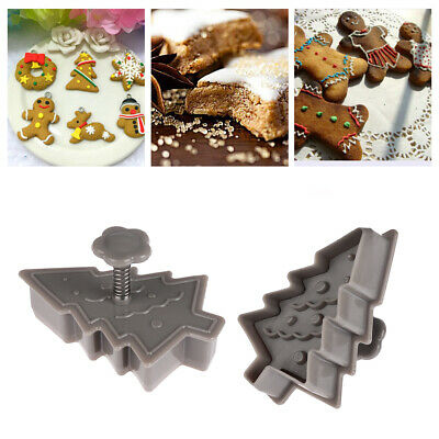 Decorating Cake Tool Christmas Biscuit Mold Cookie Cutter Baking Mould Plunger