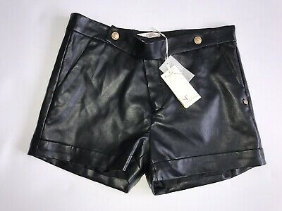 supertrash Girls Leather Look Shorts BNWT RRP £ 46 Age 14 Yrs