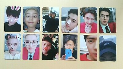 EXO What a life Official Photocard Y P G ver. - choose each type Chanyeol Sehun