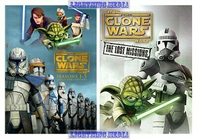 Star Wars The Clone Wars - Complete Series Seasons 1 2 3 4 5 & 6 New DVD Set 1-6