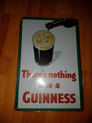 Guinness irish stout plaque wooden sign man cave shed bar pub